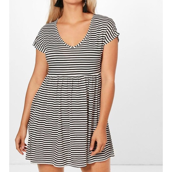 Plus Size Striped Smock Dress NWT